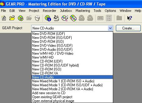 Create Audio CD