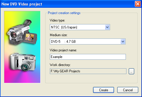 New DVD Video Project